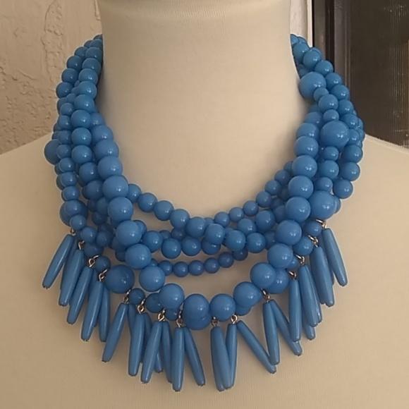 BaubleBar Jewelry - Blue Beaded Necklace